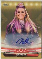2019 WWE Raw #52 Natalya auto autograph /10