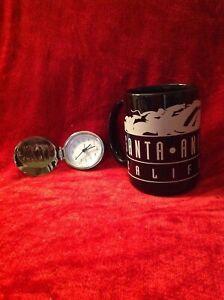 Santa Anita Race Track Horse Racing Folding Alarm Clock - Silver and Black Mug