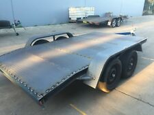 Car Trailer Tandem axle beaver 12X6.6FT 2T FORD  BUDGET NO RAMPS OR PAINT INCL