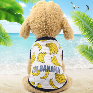 Cute Pet Dog Clothes Dog Apparel T-shirt Clothing Summer Shirt Vest For Puppy@