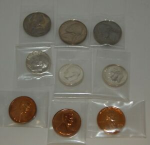 1956 Proof Coins - 10¢, 5¢, 1¢ - 3 of each coin - (Lot of 9 Coins)