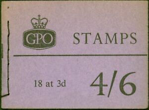 GB 1959 Feb 4s6d Wilding Booklet SGL24 Complete & Fine