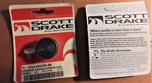 Scott Drake C8AZ-6223352-BK Knob, Window Crank, Black, Ford, Each