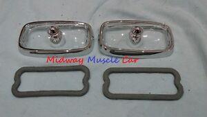 66 67 Pontiac GTO front turn signal parking lamp light assy  lens bezel & gasket