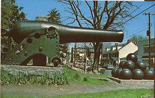 NEW HOPE PA Main Street 9-Inch Dahlgren Cannon Civil War USS Minnesota postcard