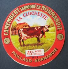 Etiquette fromage CAMEMBERT LA CLOCHETTE   french cheese label 26