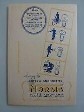 LAMPES MIGNONETTES NORMA / BUVARD PUBLICITAIRE  ANCIEN