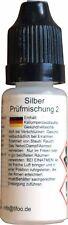 """""""5 mL Silber Prüfmischung 2"""" Nachfüllflasche für Prüfsäureset """"Silber"""""""