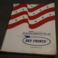 VTG 1976 Aviation Enroute Atlas Sky Prints Bicentennial Edition WAC CHARTS book