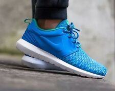 NIKE ROSHE NM FLYKNIT PREMIUM prm running baskets chaussures-uk 7.5 (eur 42) bleu