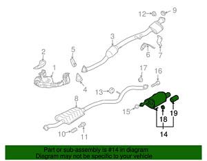 OEM NEW 2010-2014 Subaru Legacy Exhaust Muffler Assembly Driver Side 44300AJ20B
