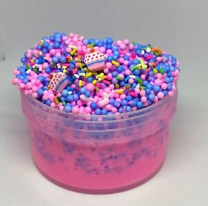 "Full Floam Slime ""Cupcake Crunch"" SCENTED crunchy 6 8 12 oz foam beads Charm"