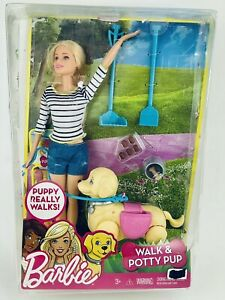 Barbie Girls Walk and Potty Pup. New Open Box