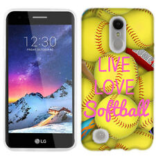 For LG Aristo 2 Love Softball Case Skin Cover
