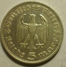 Germany Nazi 5 Reichsmark 1936 J .900 Silver 736