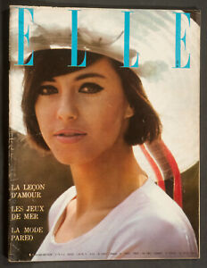 'ELLE' FRENCH VINTAGE MAGAZINE HOLIDAY ISSUE 24 JULY 1964