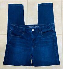 American Eagle Hi Rise Jegging Stretch Dark Blue Jeans 14