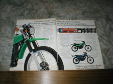 1977 Yamaha Monocross Enduro Cycle  2  page ad DT125  DT175,   YZ  MX design