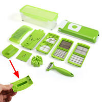 12PC Vegetable Fruit Peeler Multi-Function Chopper Steel Slicer Dicer Grater set