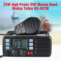 RS-507M VHF LCD FM DCS Boat Ham Amateur Mobile Radio Walkie Talkie GPS Receiver
