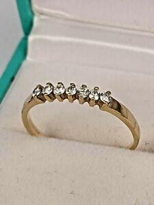 Seven stone diamond 18ct gold eternity ring