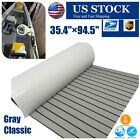 Classic Gray Boat Teak Decking Eva Foam Marine Flooring Non-slip Carpet 94x35