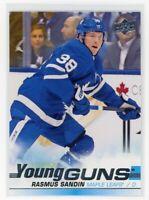2019-20 Upper Deck Rasmus Sandin Young Guns Rookie #222 Maple Leafs RC