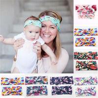 2 Pcs Girls Kids Baby Flower Bow Hairband Headband Sweet Soft Head Wrap Band