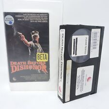 Death Before Dishonor Movie Betamax NOT VHS Tape New World Video Rental Version