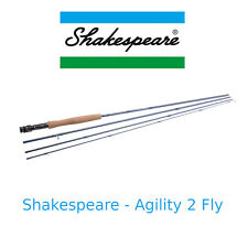 Canna da pesca a Mosca trota torrente Shakespeare Agility Rod in Carbonio 4 pz