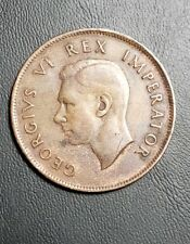 South Africa 1941 Georgivs VI Rex Imperator Copper Coin