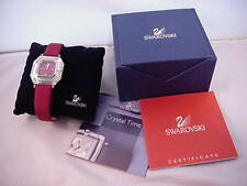 Swarovski Crystal Time Women's Watch Red w/Box  Ref: 1791784
