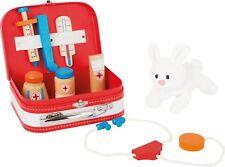Arztkoffer Hase für Kinder Tierarzt Doktor Spiel Krankenschwester aus Holz Neu