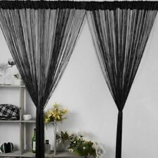 Shiny Silver Tassel Flash Line String Door Window Home Sheer Curtain Decoration