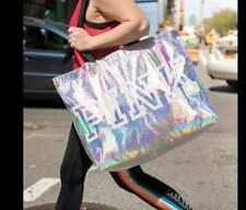 VICTORIA'S SECRET PINK IRIDESCENT REUSABLE ECO TOTE GYM BEACH SHOPPING BAG NWT