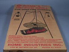 Vintage Rome Industries Tri-Pod Camping Grill #117