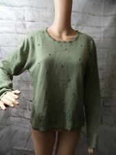 Kathie Lee Women's Green Long Sleeve Pullover Sweater. Ladies size Large(12-14)