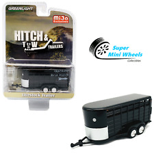 Greenlight 1:64 Hitch & Tow Trailers - Livestock Trailer (Black) - Mijo