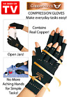S/M Arthritis Copper Hands  Gloves As Seen on Tv Therapeutic Compression New