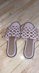 Matalan Pink Caged Gold Studded Slider Sandals. Asos Plt Zara River Island
