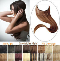 Headband Secret Wire In Hair Extensions Invisible Curly Synthtic Wedding Hair