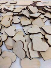 "Crafting Supplies  150 pcs. Laser cut wooden Hearts 1"" x 1"" wood Hearts"