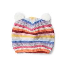 babyGap GAP GIRL BEANIE HAT Crazy stripe bear garter beanie NWT 12-18M N5 NNN