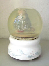Vintage Winter Woman & Bird Musical Collectible Snow Globe/ Water Dome #234