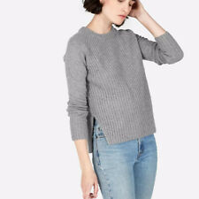 Everlane Ribbed Crew Neck Sweater Pullover Knit Top Wool Cashmere Minimal Cos
