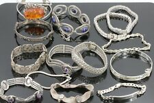 Silber Armband Armreif Konvolut 14 Stück 925 835 800 Silber 351,73g Bernstein