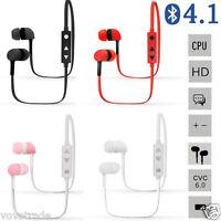 Bluetooth Wireless Headset Stereo Headphone Earphone Sport Universal Handfree