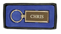 Personalised Silver Metal Men Keyring Names Starts From C---D---E