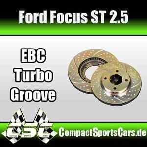 EBC Turbo Groove Bremsscheiben für Ford Focus ST 2.5 - für Hinterachse/HA