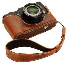 Genuine leather half case & Hand strap for FujiFilm X10 X20 / Rally Volpe